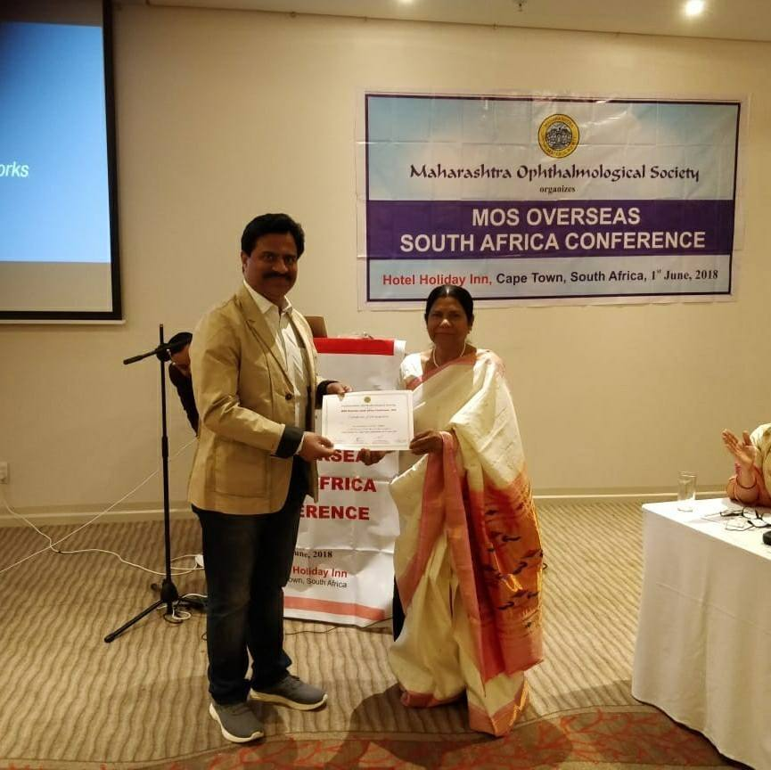 Dr Jeevan Ladi at International Conference at Cape Town, South Africa